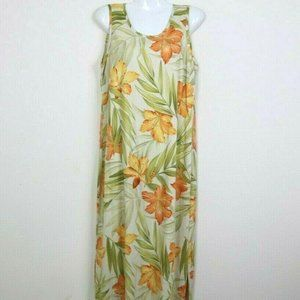 Tommy Bahama Womens Dress Sleeveless Floral Silk